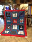 Paulette finished her T-shirt quilt too, and it turned out fantastic! Nice job, Paulette!